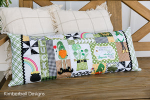 Luck o' the Gnome St. Patrick's Day Bench Pillow