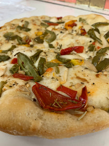 Focaccia  with Peppers & Onions