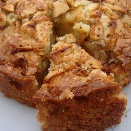 Heavy Apple Cake with Streusel Topping & Honey Glaze