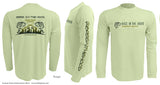 Long sleeve fishing shirt, UV protection, Moisture wicking, Hood logo
