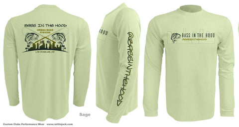 Shirts Long sleeve , UV protection, Moisture wicking, Bass in the Hood logo