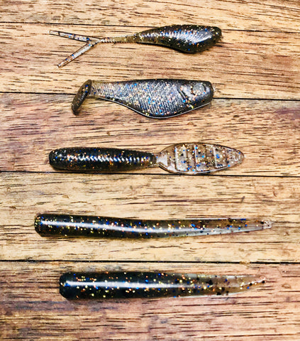 Skunk Beater 5 finesse baits in a 38 bait set Smoking Gill