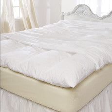 100% Cotton Mattress Topper and Fiber and Feather Bed Zipper Cover, Machine Wash and Dry 360 degree Protector
