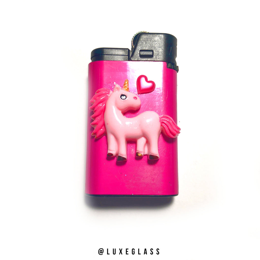 Pink Unicorn Lighter