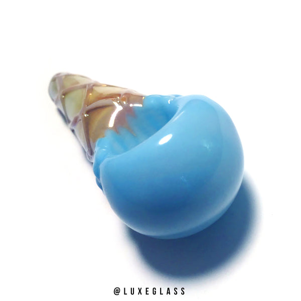 Blue Ice Cream Glass Pipe