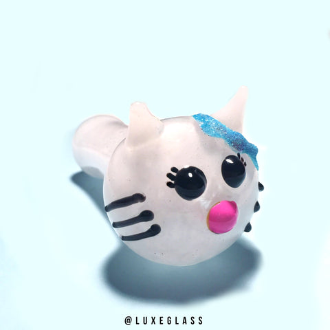 Cat Pipe with Blue Glitter Bow
