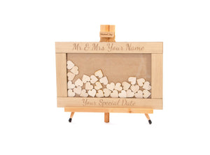 Personalised Drop Box Hearts Guest Book Alternative