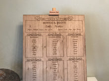 Oak Table Plan