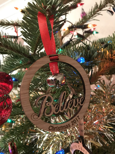 Believe Christmas Bauble