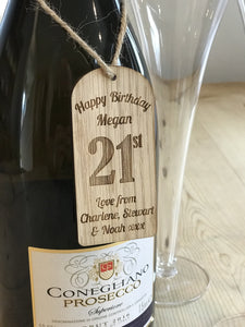 Personalised Birthday Bottle Tags