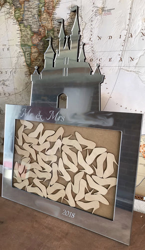 Castle Inspired Personalised Drop Box Hearts Guest Book Alternative