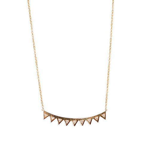 Zoe Chicco 14k Diamond Eyelash Necklace
