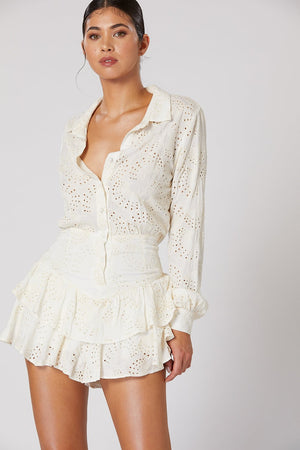 Gazelle Playsuit in White