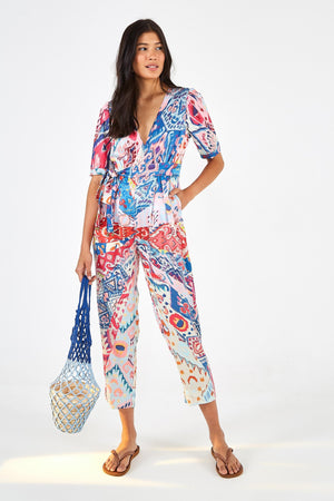 Farm Rio Boboikat Jumpsuit in Multi