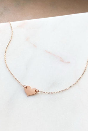 Sweetheart Choker Necklace in Gold