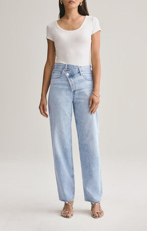 Criss Cross Upsized Jean in Suburbia