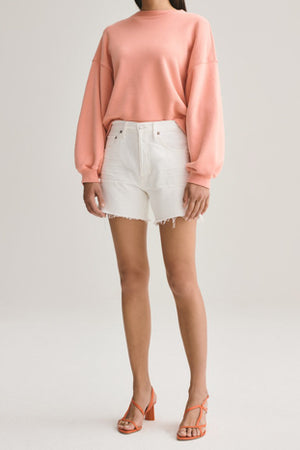 Agolde Reese Relaxed Cut Off Short in Tissue