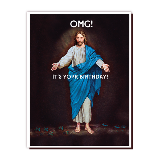 'OMG' Birthday Card
