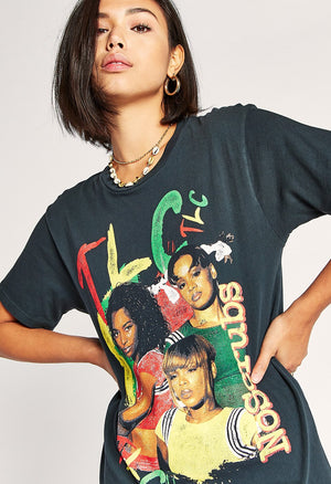 Daydreamer TLC No Scrubs Tee in Black