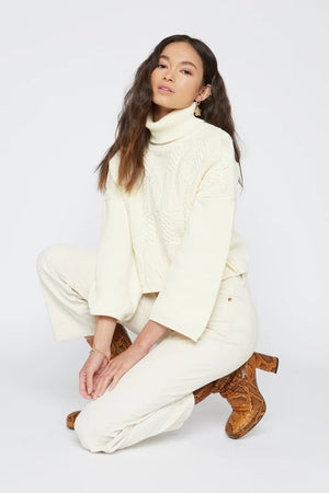 Charlotte Turtleneck Sweater in Cream by Callahan