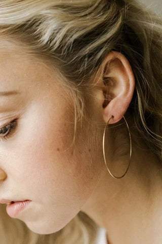 Organic Hoops in Gold