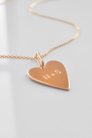 Engravable Amaya Heart Necklace