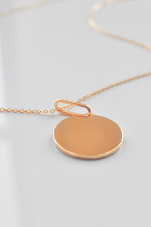Engravable Balia Disc Necklace