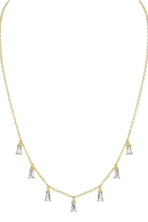 Elizabeth Stone Baguette CZ Necklace sold at Sway and Cake