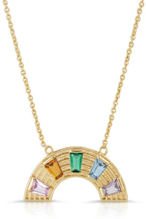 Elizabeth Stone Rainbow Love Gemstone Necklace sold at Sway and Cake