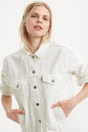 Levi's Ex-Boyfriend Trucker Jacket in White Cell
