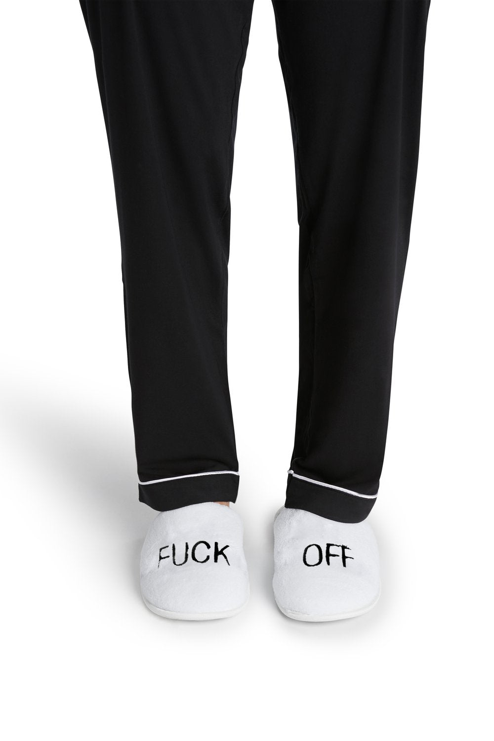 F*** Off Slippers in White