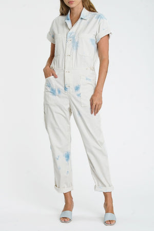 Pistola Grover Field Jumpsuit in Blue Surf sold at Sway and Cake