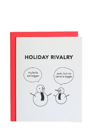 'Snowman Rivalry' Holiday Greeting Card