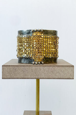 Mikal Winn Gold Mesh Cross Cuff