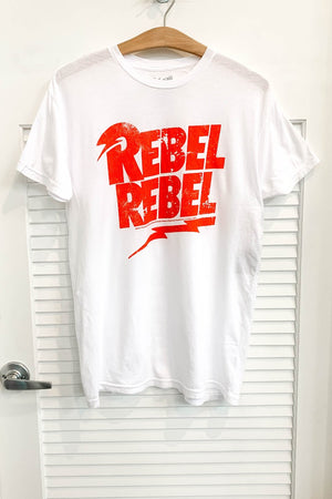 Retrobrand Rebel Rebel Graphic Tee in White