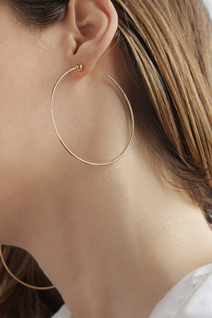 Medium Icon Hoops in Gold