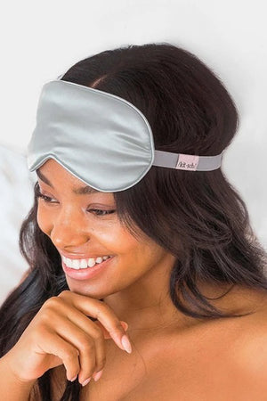 Kitsch Satin Eye Mask in Silver sold at Sway and Cake