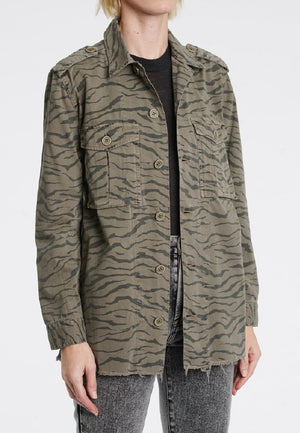Camilo Military Jacket in Olive Tiger