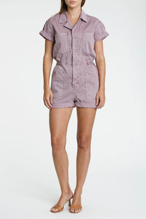 Pistola Parker Field Suit Short in Lilac Dust sold at Sway and Cake