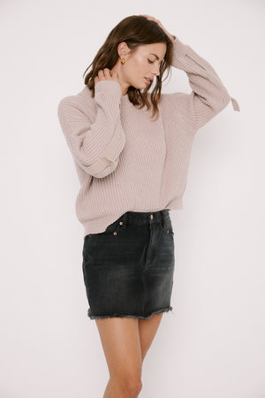 Pistola Taylor Tab Sleeve Sweater in Blushing sold at Sway and Cake