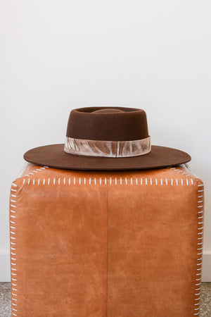 Lack of Color Juno Boater Hat in Brown