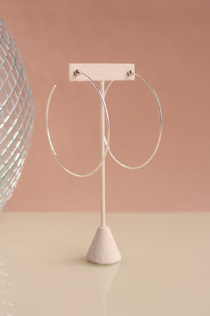 Jennybird Icon Hoops Large In Silver/Rhodium