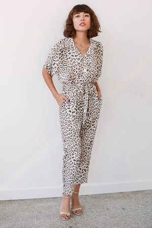 Sway and Cake Margaux Jumpsuit Vanilla Cheetah
