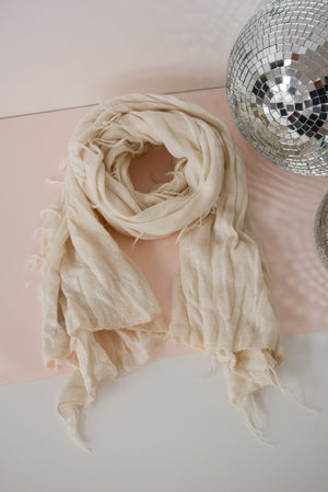 Sierra Brushed Scarf in Bone