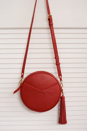 TAH Circle Bag in Red