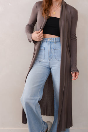 Beautiful People Tencel Long Duster in Mushroom