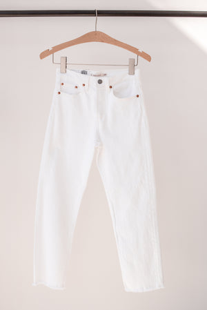 Levi's Wedgie Straight Leg Jean in White