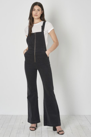 Rolla's Eastcoast Flare Overall in Black Cord