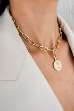 Ellie Vail Elsa Coin Gold Necklace
