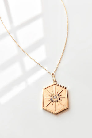 Thatch Jewelry Guiding Star Necklace in Gold sold at Sway and Cake